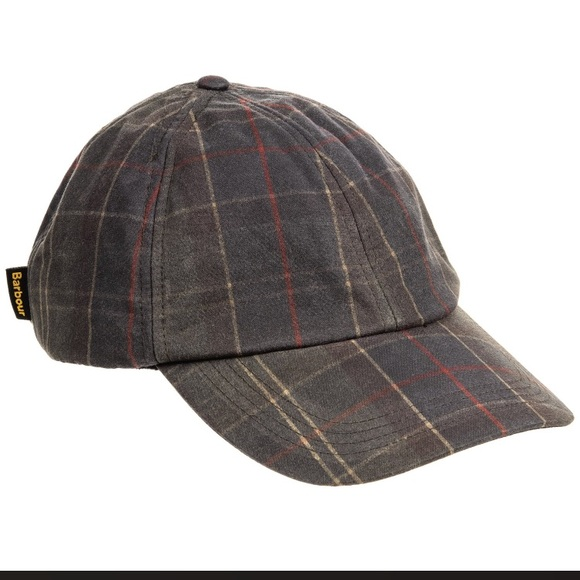 Barbour Men s Waxed Cotton Sports Cap NEW Tartan 7ff8e8b99d98